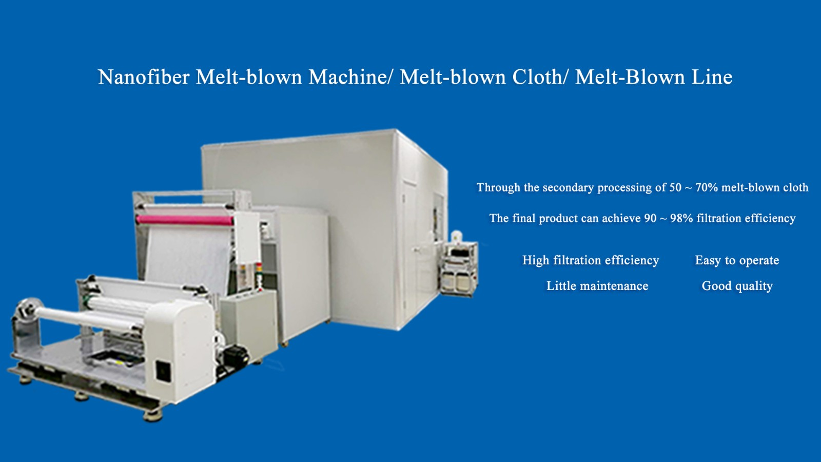 N99 Nanofiber Melt-blown Machine/Melt-blown Cloth/Melt-blown Line