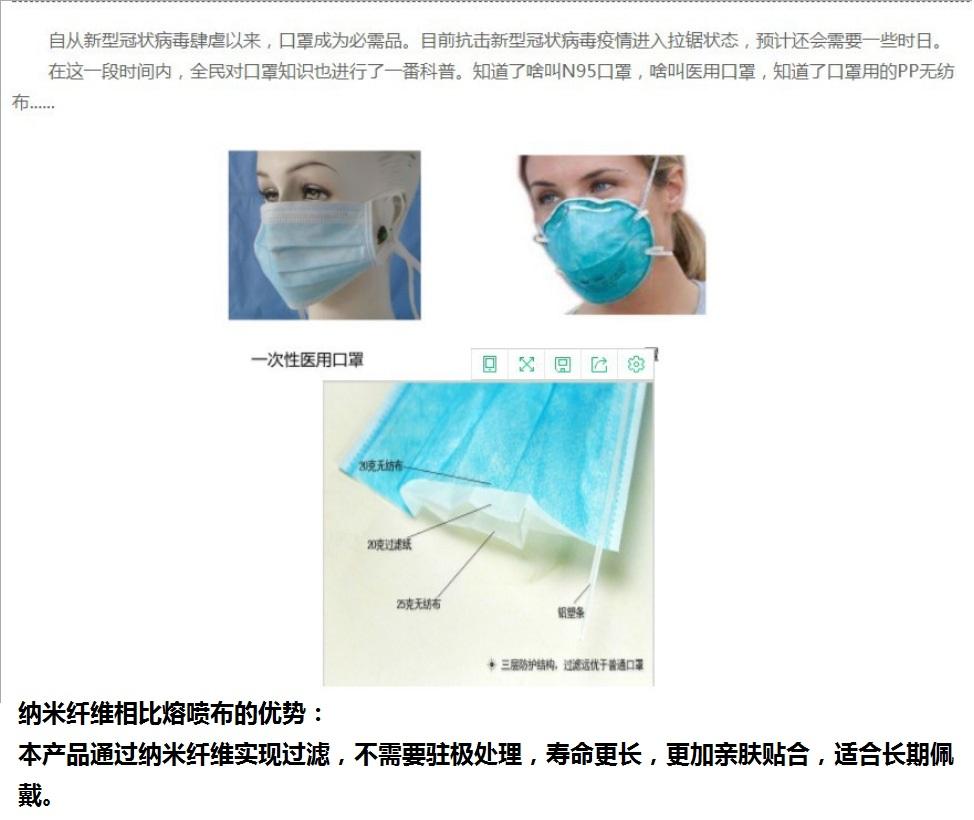 Nanofiber Mask, N95, Children Mask