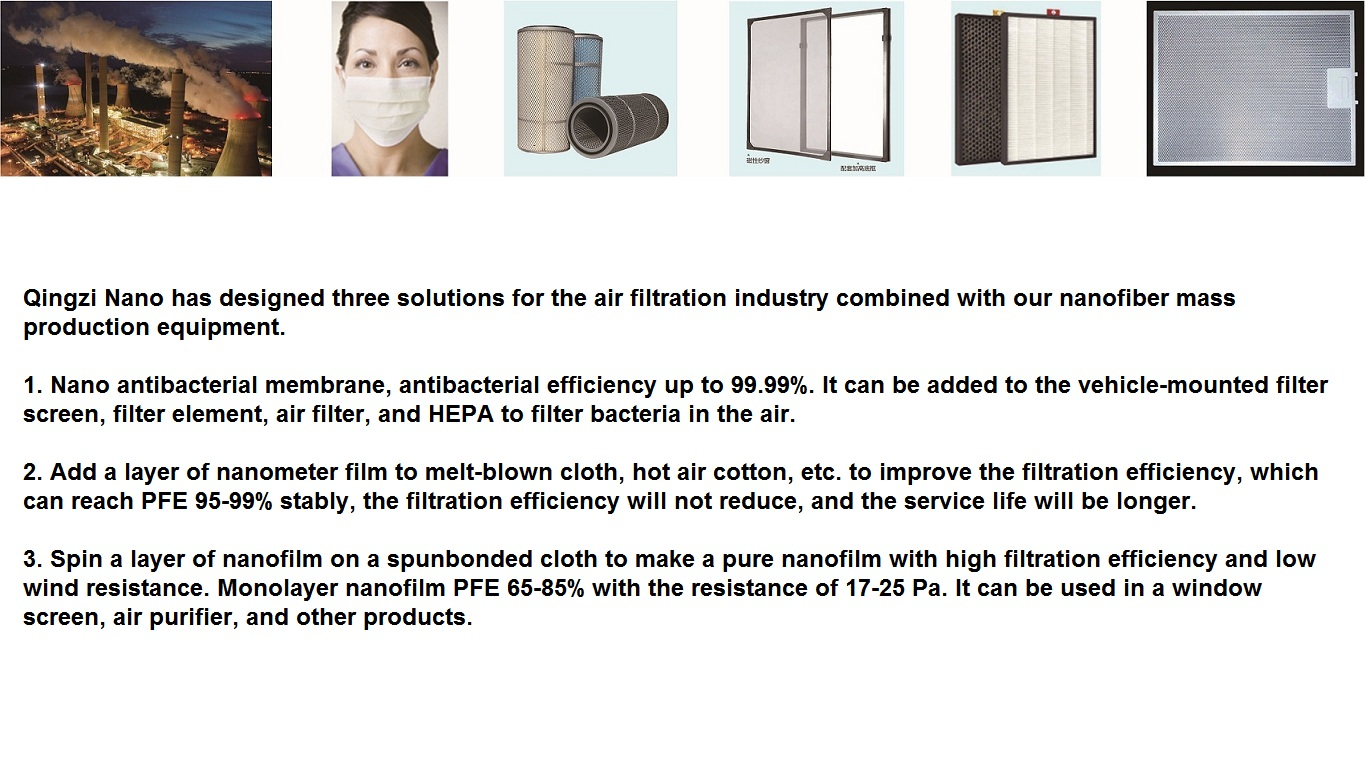 electrospinning nanofibers air filtration application