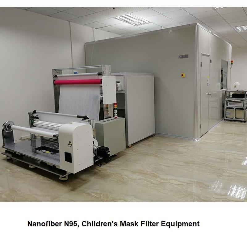 Nanofibers Cloth On The Mask Machine, Production of KN95 Masks